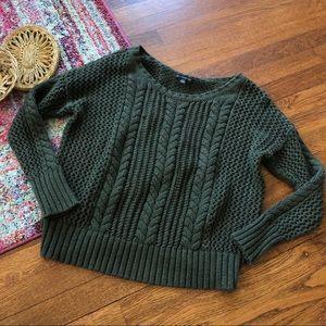 American eagle green Crewneck sweater